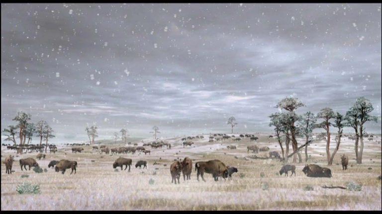 Paysage paléolithique (France, Marsoulas)