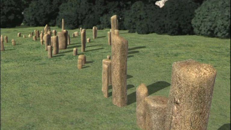 Alignements de menhirs de Cauria (France, Corse, Monte Revincu)