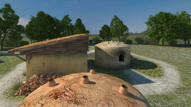 Amphoralis, village de potiers gallo- romains (France, Sallèles d'Aude)
