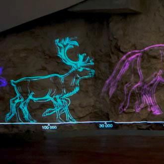 Centre d'interprétation du Mas d'Azil – documentaire, Motion design